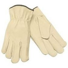 MCR Safety 3410XL Grain Pigskin Driver Premium Grade Gloves with Straight thumb, Cream, X-Large, 1-Pair