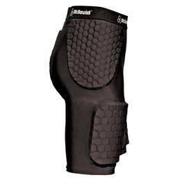 McDavid Hexpad Thudd Short with Dual Density Hexpad Thigh Pads (Black, Large)