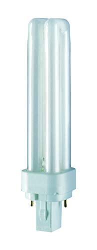 Osram 13W Dulux-D 2-Pin G24d-1 Cap 840 [4000K] Cool White Colour Energy Saving Compact Fluorescent Lamp