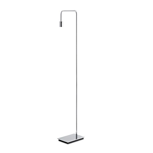Modern Chrome Floor Lamp, Contemporary Style Reading Light, Plugin, in-line Dimmer Included, ETL Listed, Hoyt Design by Brooklyn Bulb Co.