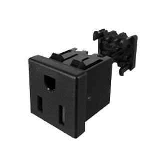 739W-X2/45 - Power Entry Connector, 739W Series, Receptacle, 125 V, 15 A, Panel Mount, IDC / IDT (Pack of 20)