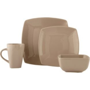 Bosa 16 Piece Square Stoneware Dinner Set - Natural.  sc 1 st  Amazon UK & Bosa 16 Piece Square Stoneware Dinner Set - Natural.: Amazon.co.uk ...