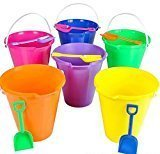 Beach Pails & Shovels - 9 Inch, Assorted Colors- PACK OF 12 by Splash-N-Swim
