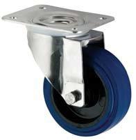 Gamme Coldene Roulettes Ltd/ /125/mm Bleu /élastique Lot de roulettes en caoutchouc/ /2/x pivotantes 2/x fixes