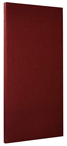 ATS Acoustic Panel 24x48x2 Inches, Beveled Edge, in Burgundy