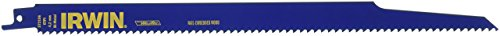 IRWIN Tools Nail-Embedded Wood Cutting Reciprocating Saw Blade, 12-Inch, 6 TPI (372156)