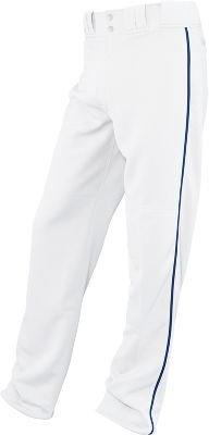 イーストン大人用Rival Piped Baseballパンツ、ホワイト/ロイヤルブルー、XL B00G3C5PWC