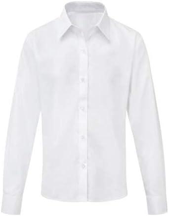 Camisa blanca para niñas de manga larga o corta lisa casual: Amazon.es: Ropa y accesorios