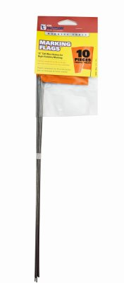 CH Hanson 15275 15 in. Glo Orange Fluorescent Marking Stake Flag, 10 Pack ()