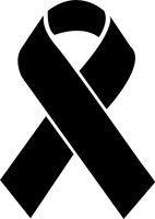 4 inch Awareness Ribbon - Stencil Ribbon