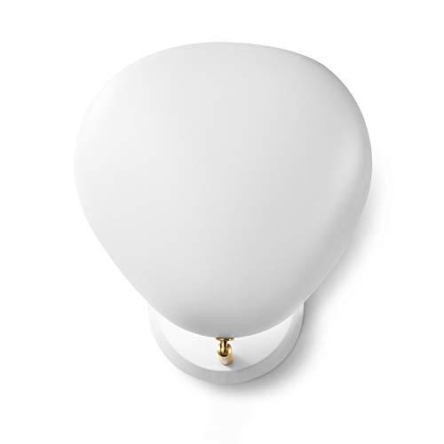 Hyperikon Industrial Sconce Light, Asymmetrical Matte White Metal Shade Wall Light, Modern Wall Lamp, 1-Light E26 Bulb Base Socket, Urban - No Bulb Included - Lamp Wall Ashton