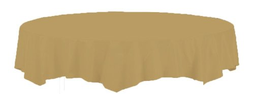 Glittering Gold Paper - Creative Converting Touch of Color Octy-Round Paper Table Cover, 82-Inch, Glittering Gold