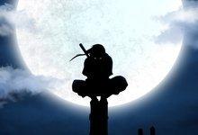 Luna silueta Naruto Shippuden Uchiha Itachi Anime Ninja Anbu ...
