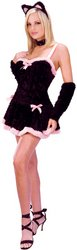 Kiss Me Kitty Adult Costume - Medium/Large