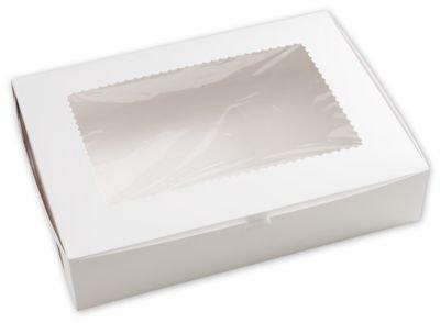 Color blanco cajas de panadería de ventana, 1 pieza, 19 x 14 x 4 ...