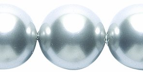 Swarovski 5810 Crystal Round Pearl Beads, 12mm, Light Gray, 8-Pack