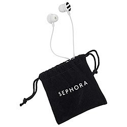 sephora-earbuds-black-white-limited-edition-2013-new-with-re-usable-velvet-pouch