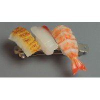 Japan craftsmen make food sample Valletta mini sushi 3 consistent set B (yellowtail, eel, shrimp) IP-399 Tail Eel