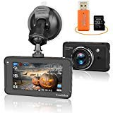 Car Dash Cam, Halloween Special Edition Full HD 1080P DVR Camera Trochilus with 32GB SD Card and Portable Card Reader, 170 Degree Wide Angle Lens , Night Vision, WDR, G-Sensor, Loop Recording -