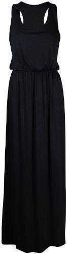 PurpleHanger Women's Toga Long Vest Maxi Dress Plus Size Black -