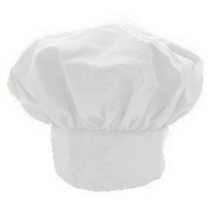 CHEFSKIN BIG & TALL CHEF HAT WHITE EXTRA 2 INCHES WITH VELCRO ADJUSTABLE CLOSURE COOL FRESH HAT by CHEFSKIN