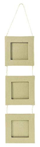 Decopatch Mache 3 Frames Linked Together, Square, 1 x 8 x 8cm x 3