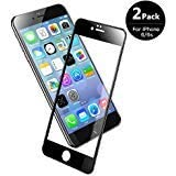 V VONTOX Screen Protector Compatible with iPhone 6/6S (2 Pack), iPhone 6/6s Tempered Glass 3D Full Coverage Scratch-Resistant No-Bubble Glass Screen Protector, 4.7 Inch (Black)