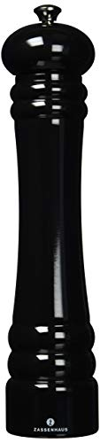 Zassenhaus Berlin 11.8-Inch Gloss Black Pepper Mill