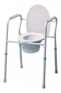 7103A-4 Part# 7103A-4 - Commode 3-In-1 Lumex Steel 300lb SnapOnSeat Lid/SplGrd 4/Ca By Graham-Field/Everest &Jennings