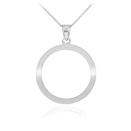 925 Sterling Silver High Polish Circle of Life Pendant Karma Necklace, ()