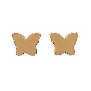 So Chic Bijoux © Boucles d'oreilles Papillon Plaqué Or 750