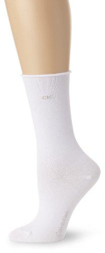 Calvin Klein Women's 3 Pack Cotton Roll Top Crew Socks Calvin Klein Knit Socks