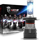 MZS H4 LED Headlight Bulb Single for Motorcycle,9003 HB2 Mini Conversion Kit - CREE Chips - 6500K 5000Lm Extremely Bright