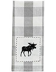 Park Designs Wicklow Moose Decorative Cotton Dishtowel Kitchen Linens