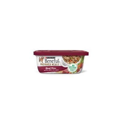 6 Tubs of Purina Beneful Prepared Meals Beef Stew Adult Wet Dog Food - 10 oz. ea