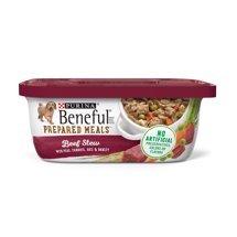 6 Tubs of Purina Beneful Prepared Meals Beef Stew Adult Wet Dog Food – 10 oz. ea