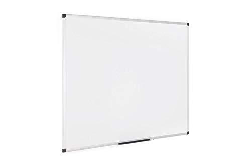 Bi-Office Maya - Pizarra blanca magnética con marco de aluminio, 150 x 100 cm