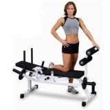 Body Solid GAB100 Body Solid Horizontal Ab Crunch Bench with Weight Resistance and Assistance