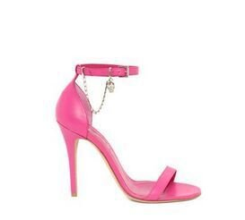 Altas sandalias de los tacones altos talones de las cadenas sencillas banquetes Zapatos de tacones Rose red