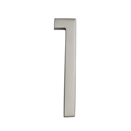 ARCHITECTURAL MAILBOXES 3584SN-1 Frank Lloyd Collection Wright Address House Number, 1, Satin Nickel (Lloyds Collections)