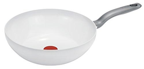 Tefal C90819 CeramicControl 유도 웍 팬 28 c m, 흰색