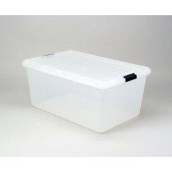Amazoncom Clear Plastic Storage Box Iris 68 Qt Set of 4 Clear
