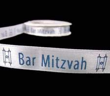 5 Yds Bar Mitzvah Jewish Scrapbook Satin Ribbon 5/8