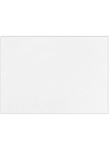 A1 Flat Notecards (3 1/2 x 4 7/8) - White 100% Recycled (1000 Qty.) by Envelopes Store