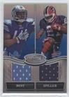 Jahvid Best; C.J. Spiller #23/50 (Football Card) 2010 Bowman Sterling - Box Topper Dual Relic - Blue Refractor #BSDR-BS (Bowmans Best Football Box)