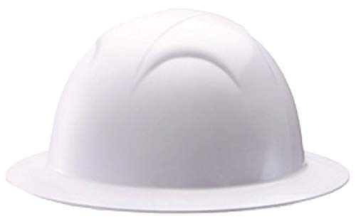 Tools & Hardware : SafetyPlus STH-6001A Full Brim ABS Hard Hat with 6-Point Ratchet with Foam Liner (White)