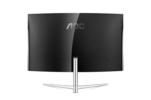 "AOC C32V1Q 31.5"" Full HD 1920x1080 Monitor, Curved VA Panel, 4ms 75Hz, Frameless, HDMI/DisplayPort/VGA, Flickerfree, Low Blue Mode, VESA, Black"