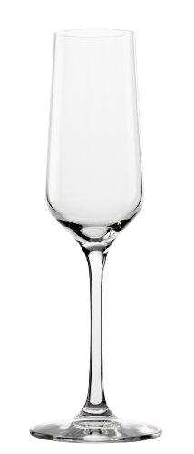 Stölzle Lausitz Sektgläser Revolution, 200ml, 6er Set, hoch funktionelle Champagnergläser, elegante Sektkelche