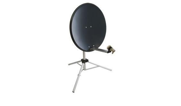 Systemsat 80 cm antena parabólica portátil con trípode para ...