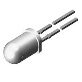 Standard LEDs - Through Hole Yellow Tint Non-Diff 25-50mcd 10mA, Pack of 100 (TLHY6401)